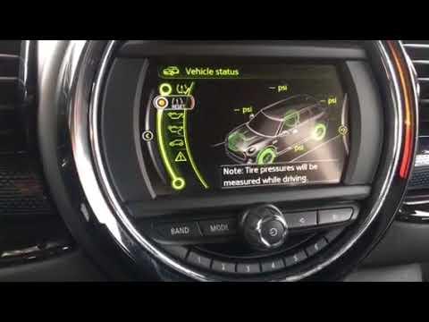 2017 Mini Cooper Clubman Tire Pressure Monitor Reset Youtube