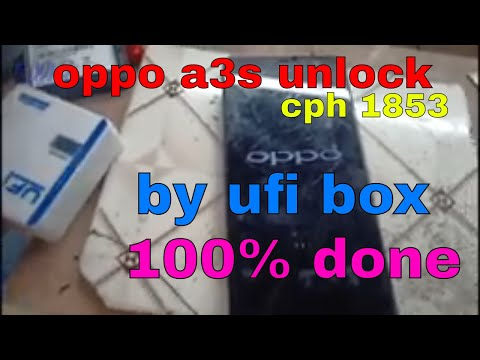 How to unlock OPPO A3S cph 1853 isp emmc pin out using by