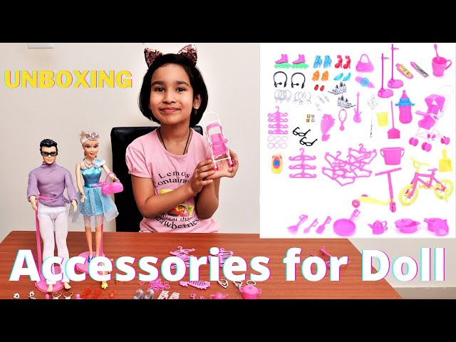 Accessories for Doll - 95 pcs set / Unboxing /  LearnWithPari