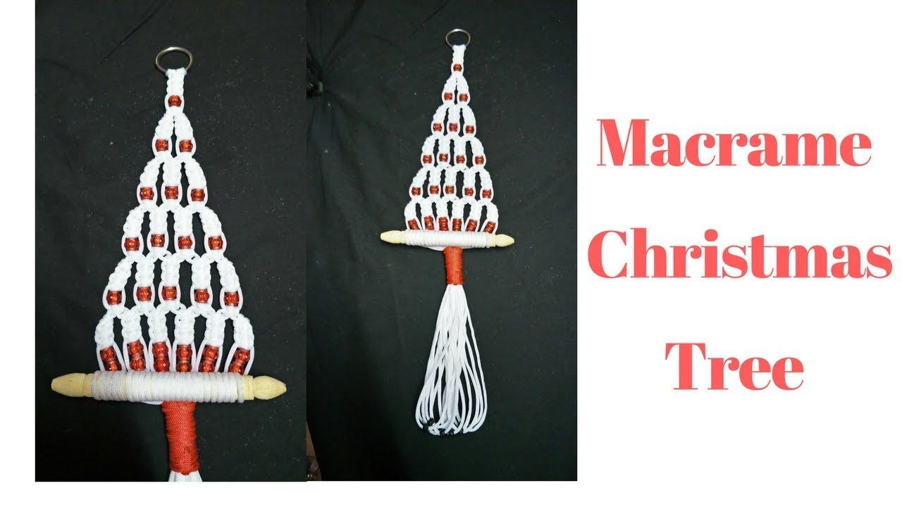 Macrame Christmas Tree Diy Macrame Tree Simple Design