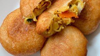 Maggi Bread Snacks  Maggi Noodles Recipe  Maggi Bread Nasta  Bread Ball  Easy Snacks Recipe
