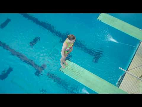 SCAC Swimming and Diving Championships Women's 1-Meter Diving.wmv