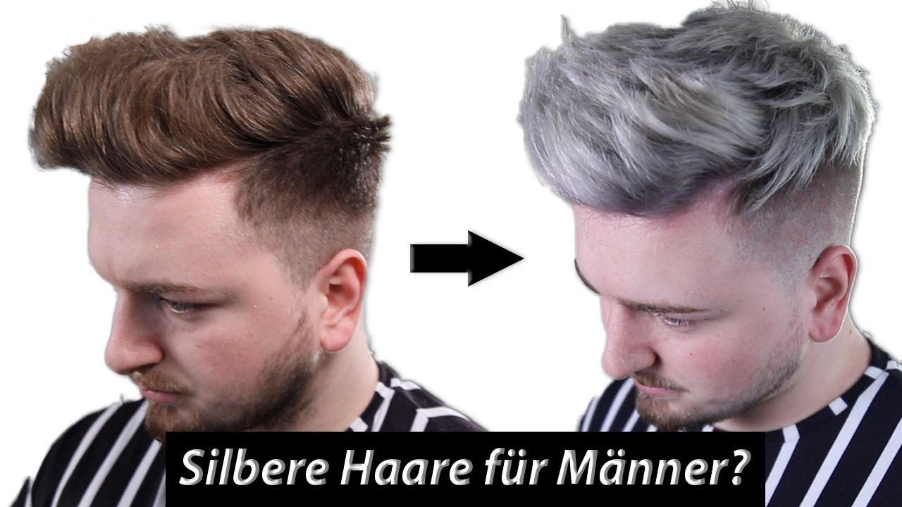 Silver Haare Fur Manner Wie Ihr Richtig Blondiert Farbt Youtube