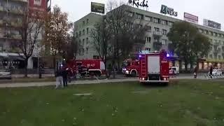 Pożar na ul. Piłsudskiego w Białymstoku 2017 Video