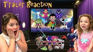 Teen Titans Ir al Cine! Los niños de la Reacción a la DC Trailer! Cartoon Network - Slade - Liga De La Justicia