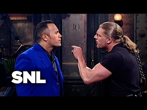The Rock Monologue: WWF Stars Stop By - SNL