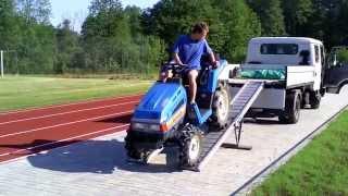 ISEKI TU 155  mini ciągnik ogrodniczy. www.akant-ogrody.pl