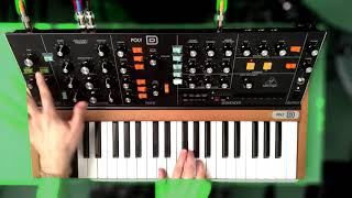 BEHRINGER POLY D Sound Demo | No Talking, No FX | Moot Booxle