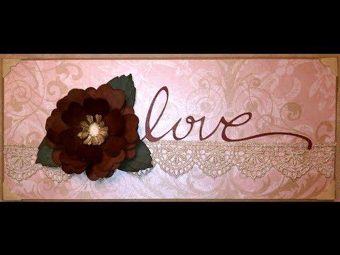 Valentines Day Handmade Rose Card YouTube – Dark Valentines Day Cards