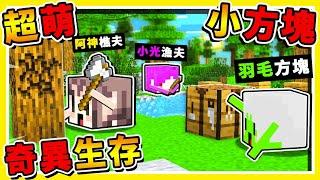 Minecraft 如果麥塊【方塊是活的】整個世界大亂???? !! 5分鐘【摧毀伺服器】❤奇異生存❤ !!【超級爆笑】!! 全字幕