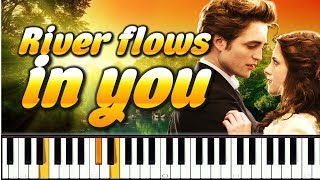 River flows in you на пианино