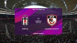 PES 2020   Besiktas vs Gaziantep - Super Lig   08/02/2020   1080p 60FPS