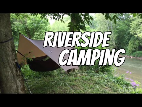 Hocking Hills riverside hammock camping trip