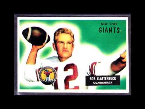 New York Giants Football Cards 1955 ,1956