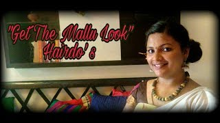 Get a mallu look  hair updo's -Onam Special.