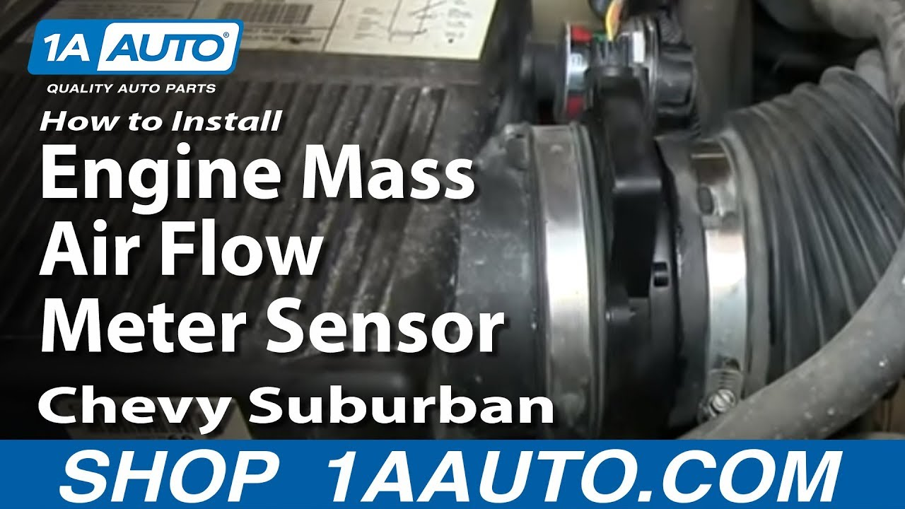 How To Install Replace Engine Mass Air Flow Meter Sensor 200006 53L Chevy Suburban  YouTube