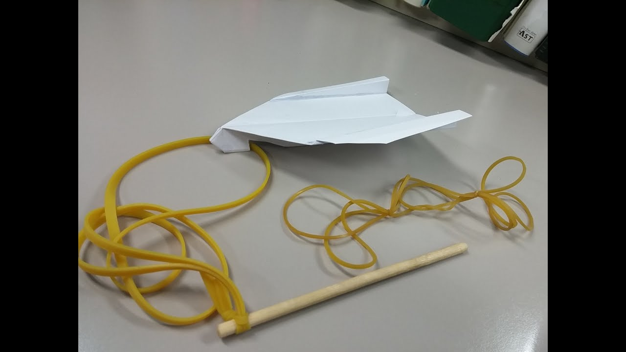 3 How To Make My Elastic Launching Paper Airplane