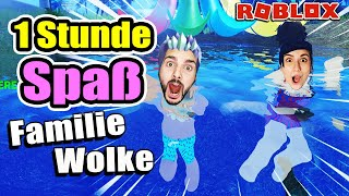 FAMILIE WOLKE im Adopt Me Alltags-Chaos! 1 Stunde Spaß mit Mama Dania & Baby Kaan bei Roblox