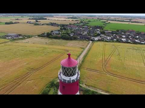 Happisburgh Lighthouse taken with a Phantom 4 Quad copter in HD   YouTube 720p