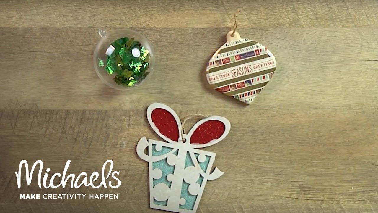 diy simple holiday ornaments michaels youtube - Michaels Christmas Ornaments