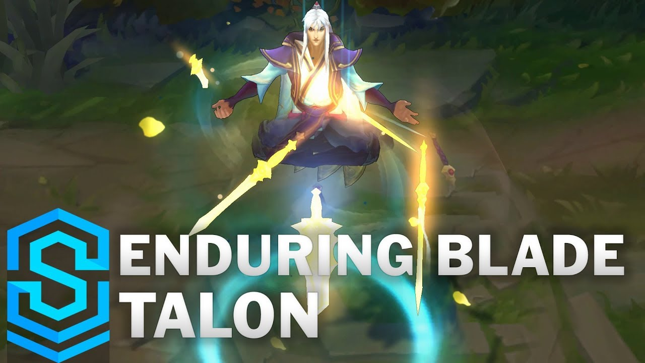 enduring blade talon skin spotlight league of legends youtube