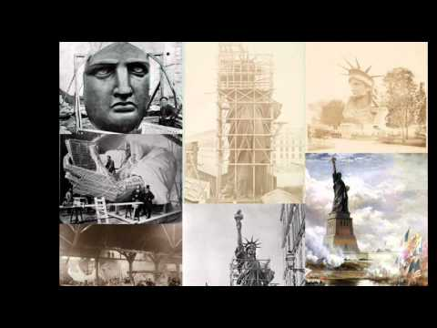 17th June 1885: Statue of Liberty arrives in New York Harbour from France