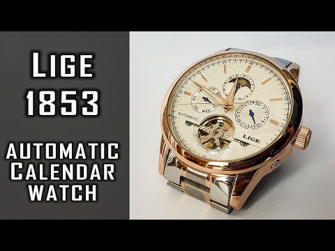 Lige 1853 Automatic Calendar Watch Review #241 #gedmislaguna