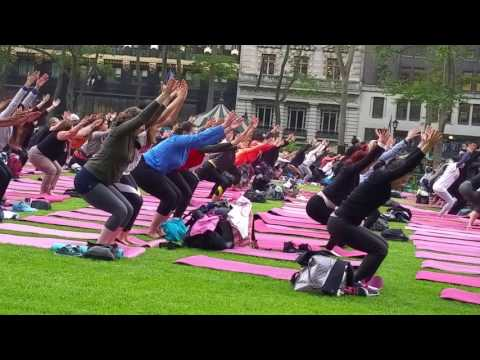 Yoga for Breast Cancer Bryant Park