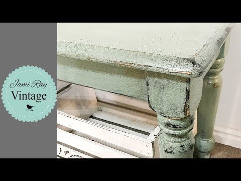 How To Get Chippy Two Toned Paint | Crackle Paint