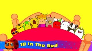 10 In The Bed - Nursery Rhymes For Kids - JellyBug