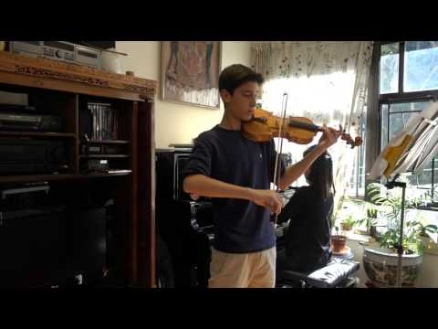 Jacob plays Fritz Seitz Concerto no 3 op 12 Violin Dec 2015