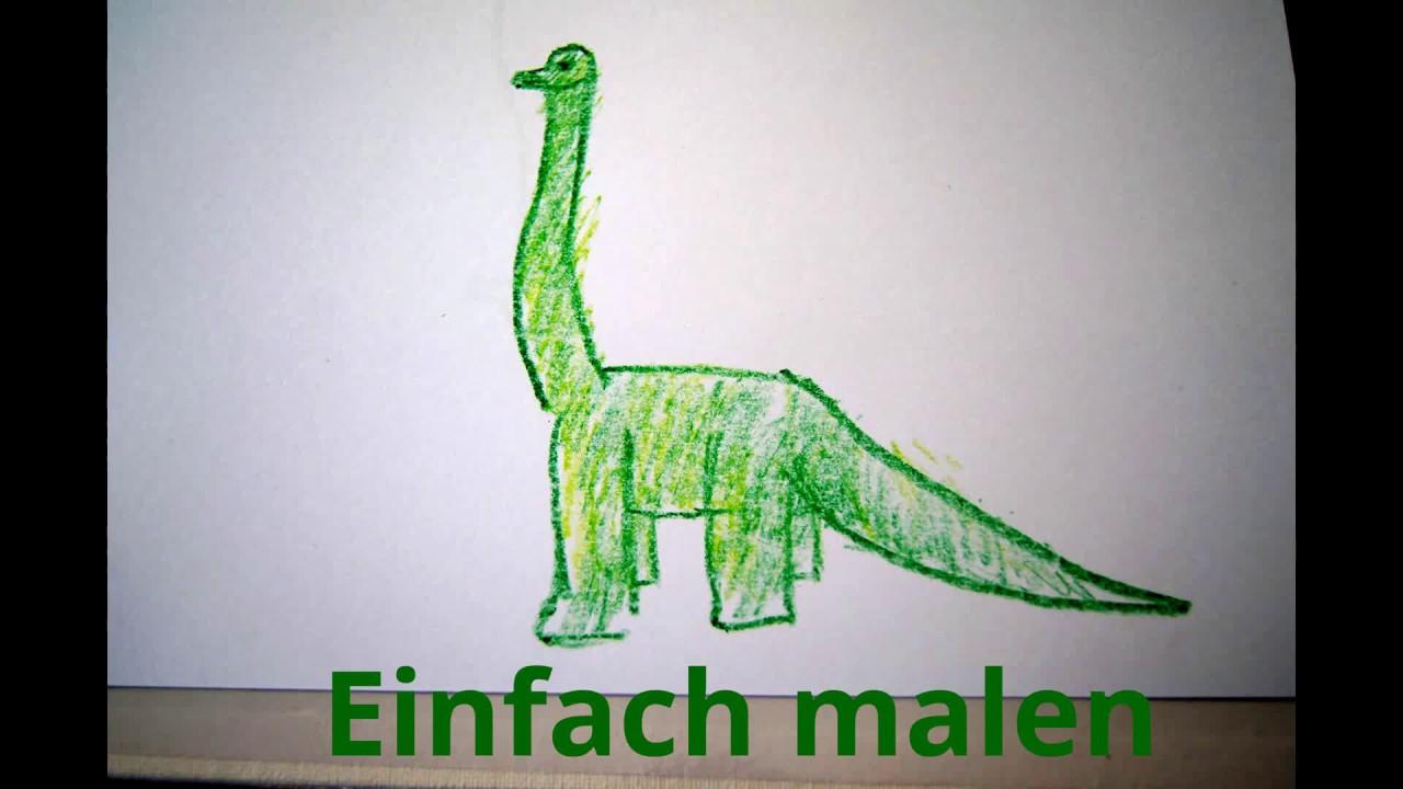 Dinosaurier Einfach Malen