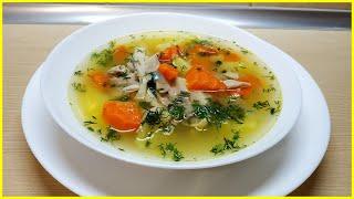 Суп из домашней птицы с лапшой//Куриный суп с лапшой(вермишелью)