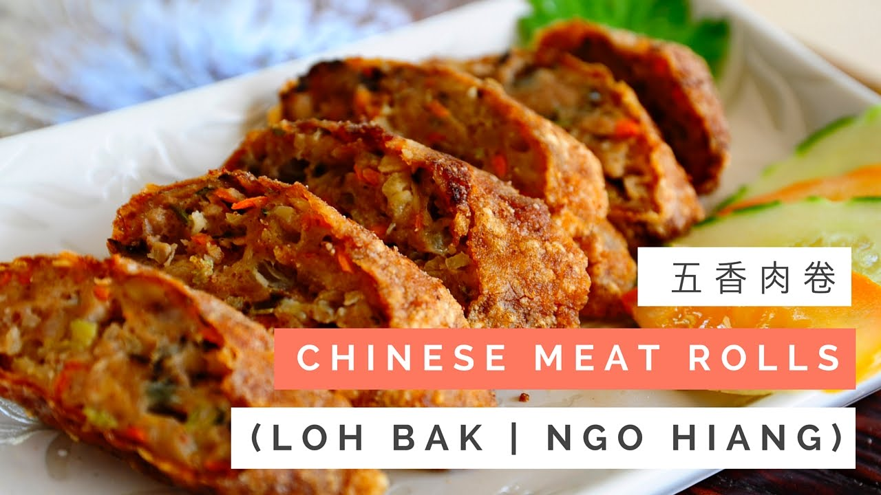 Kitchen Step Denver Hickory Cabinets Chinese Meat Rolls Recipe (loh Bak/ngo Hiang) 五香肉卷 | Huang ...
