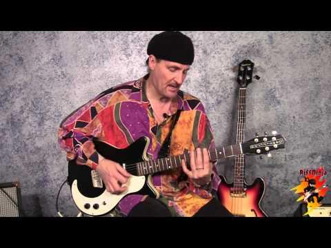 slide guitar: open d major tuning