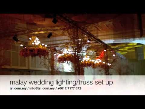 jsl.com.my Malay Wedding sound , light , audiovisual & truss set up