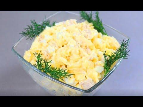 Быстрый простой салат с курицей