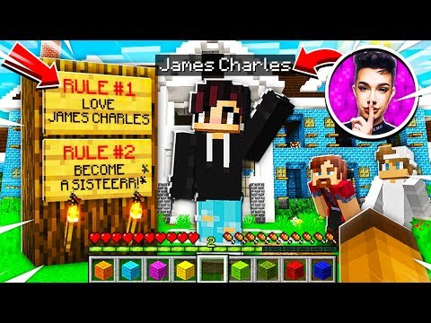 I Joined a JAMES CHARLES *SECRET* Minecraft Server and SAW THIS.. thumbnail