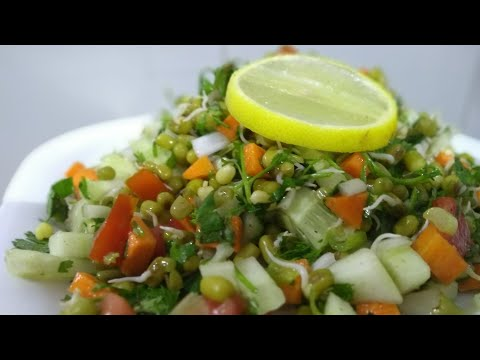 Sprouted Moong Bhel | Sprouted Moong Chat