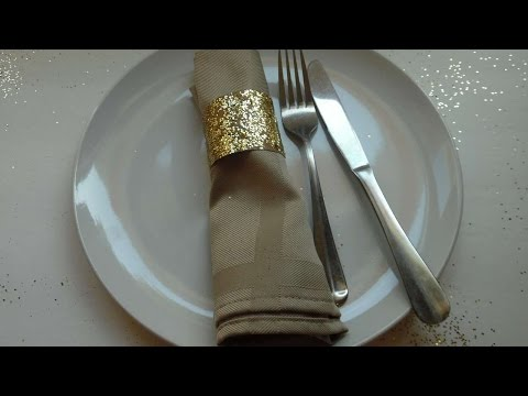 How To Make Toilet Paper Roll Glitter Napkin Rings - DIY Crafts Tutorial - Guidecentral