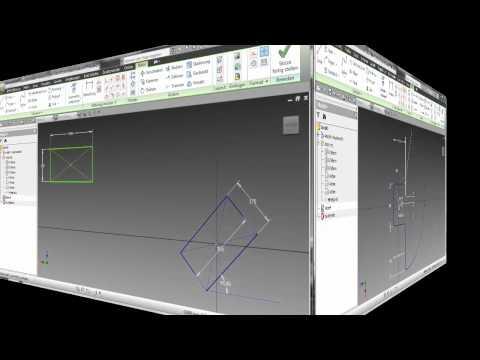 autodesk inventor 2014 biegeteil aus inhaltscenter pro doovi. Black Bedroom Furniture Sets. Home Design Ideas
