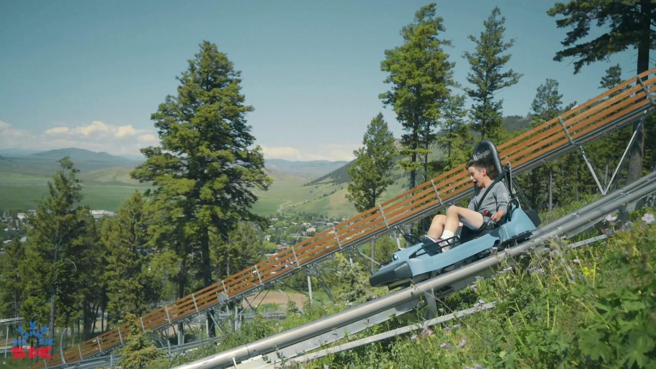 cowboy coaster at snow king mountain resort june 2017 - youtube