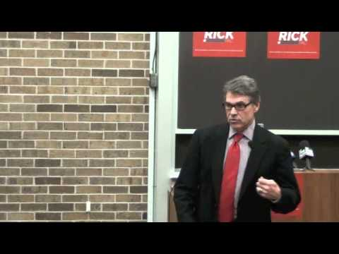 Paid liberal operative gets shut down by Rick Perry