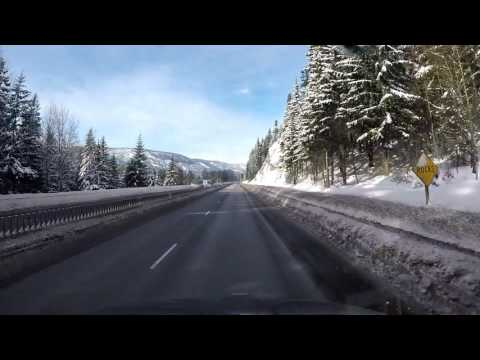 A winters drive across Snoqualmie Pass