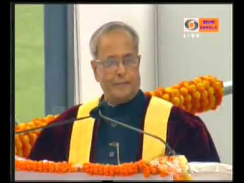 HONORABLE THE PRESIDENT OF INDIA, SHRI PRANAB MUKHERJEE at 100th ISC Kolkata