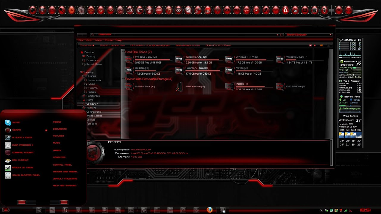 How to download alienware theme for windows 7 youtube.