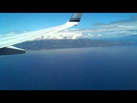 Maui descent into Kahului airport - Maui, Hawaii