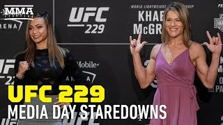 UFC 229 Media Day Staredowns - MMA Fighting