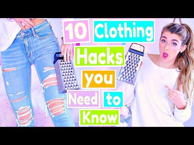 10 DIY Clothing Hacks Every GIRL Needs to Know!