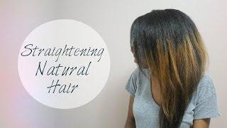Straightening Natural Hair- Collab w/ Summer Kellsey